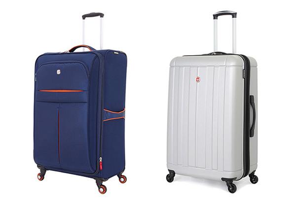 Пластиковый и тканевый чемодан Венгер